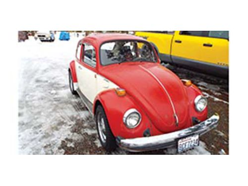 1977 VW bug rebuilt fuel injected engine brakes new tires carpets clean interior has sunroof