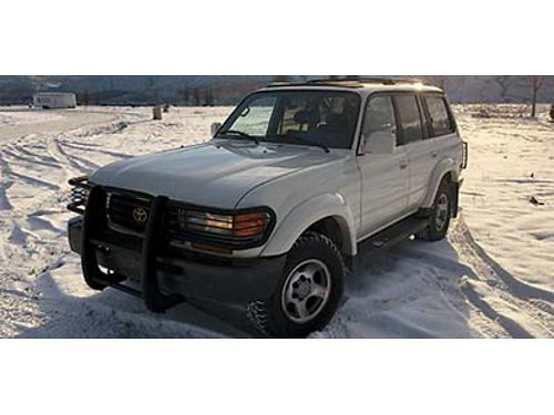 1996 TOYOTA LAND CRUISER 4x4 Loaded white with grey leather sunroof owned by same family for year