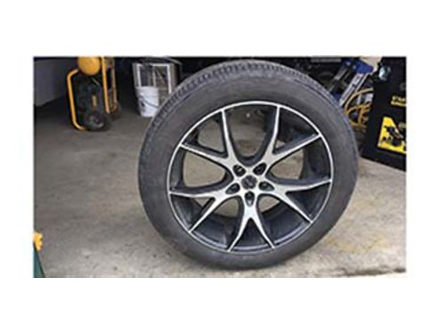 4 TOYOTA Venza custom wheels and P24550 R20 Goodyear tires both wheels and tires in excellent con
