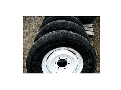 FOUR SUMMER Tires 2357515 6on55 15 by6 GM Nissan Toyota and some car trailers You check In C