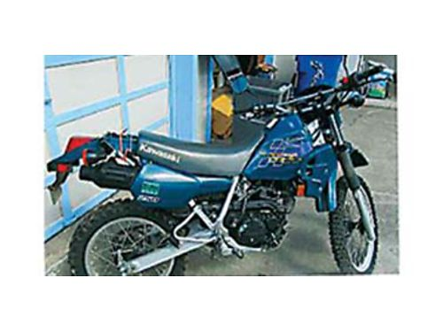 1999 KAWASAKI KLR 250 6 speed water cooled on-off road good condition runs strong good suspens