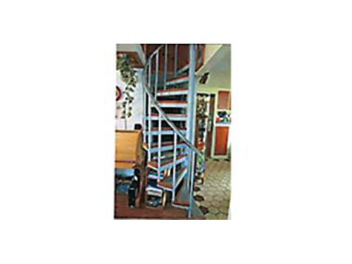 SPIRAL stair case 8ft tall made of 14 steel- expandable for height  width- strong built step