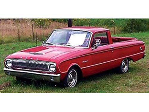 1962 FORD Ranchero very clean new crate 170cc engine 4 speed diff dual exhaust wheader Suspens