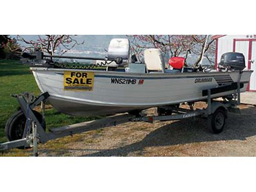 GREAT Boat Fully equipped 25 HP 4 stroke Yamaha MinnKota bow motor spare live well depth finde