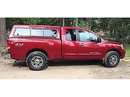 2006 NISSAN Titan V8 556 L Ext cab very clean tow package 4 wheel drive canopy slider cab wi