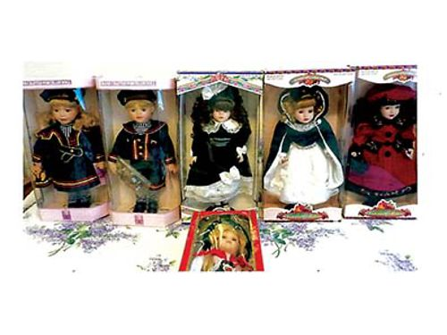 BEAUTIFUL PORCELAIN DOLLS Still in original boxes Custom German doll Women who are collectors or g