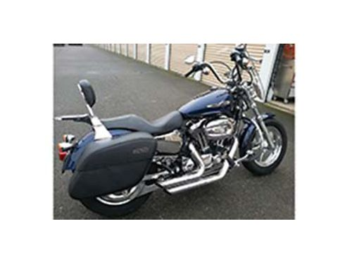 2012 HARLEY Davidson 1200cc 25k miles Big Blue Pearl Vance and Hines Short Shots exhaust and fuel