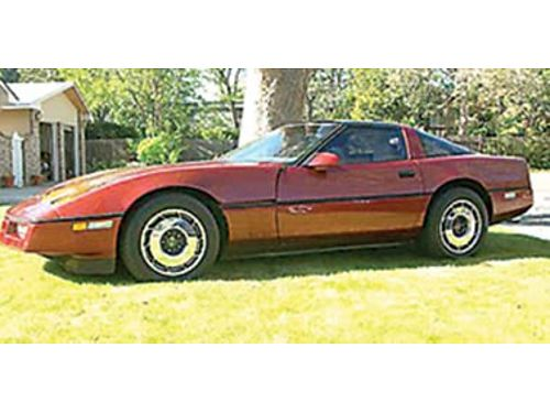 1987 CORVETTE 4spd 350-V8 new clutch injection system rebuilt leather seats