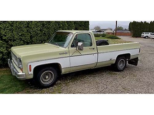 1974 CHEVY PU 12 ton been in family since new 350 auto 74000 miles 5000 OBO cash offers on