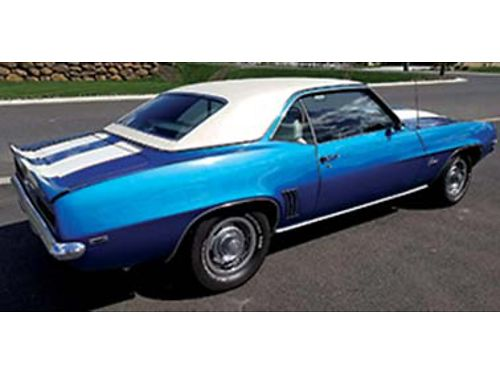 1969 CAMARO 350 cu crate eng 2 12 yrs old approx 700 mi on engine newer exhaust paint 3 yrs old