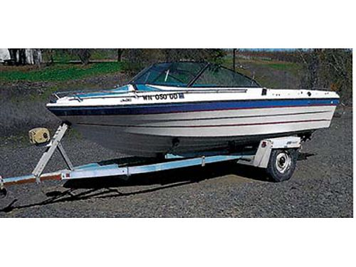 1978 FIBERFORM 19 open bow 470 Mercruiser EZ load trailer with electric winch Serviced for season