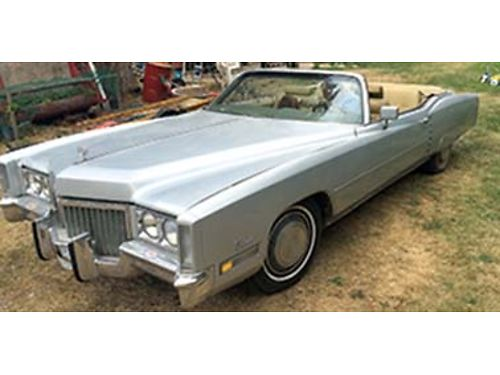 1972 CADILLAC Eldorado was going to turn it into a restoration modification but I have a stock 1971