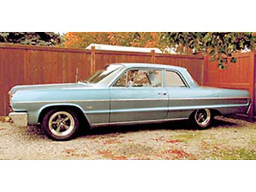 1964 CHEVROLET Bel Air 2 door post 327 4 speed power steering power brakes AC 17000 OBO or