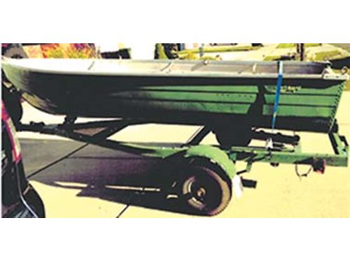 12 FT ALUMINUM FISHING boat w trailer and 28lb thrust trolling motor pics available upon request