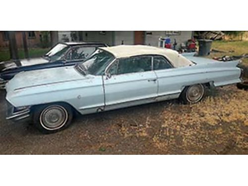 1962 CADILLAC Convertible fully loaded with factory AC good solid original car excellent for rest