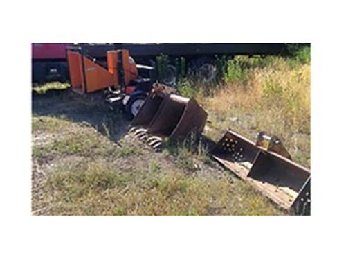 BEARCAT Chipper needs motor comes with 3 backhoe buckets 2 - 2 ft and 1 - 5 3500 OBO 509-710-4
