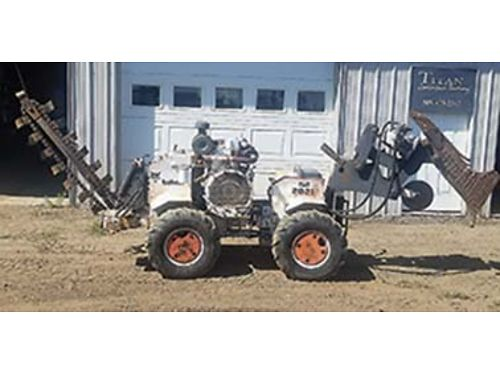 1992 BOBCAT Ditch Witch Model 2021 diesel engine runs excellent vibatory plow attachment tires 5