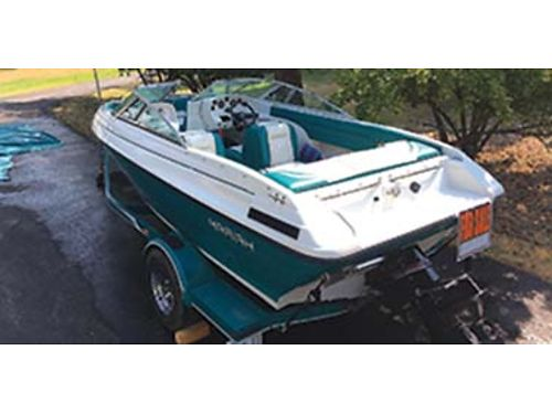 1995 MARIAH 18 open bow IO with custom trailer have all books and extras covers  mooring cover