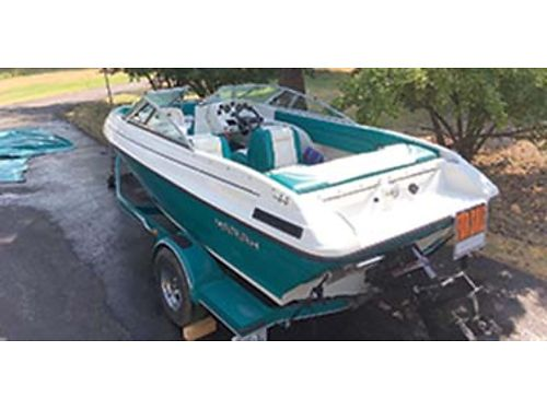 1995 MARIAH 18 open bow IO with custom trailer have all books  extras covers  mooring cover
