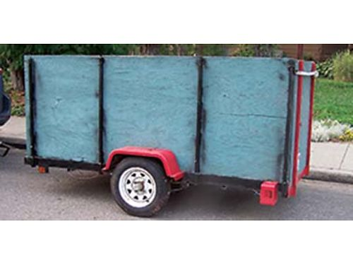 1989 SNYDER kit trailer 4x8 light utility trailer tube frame exc condition rust free low