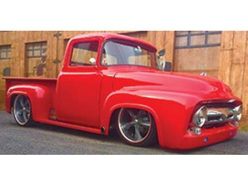 1956 FORD F-100 Hot Rod This truck is custom top to bottom 60 fuel injected motor Airbags slott