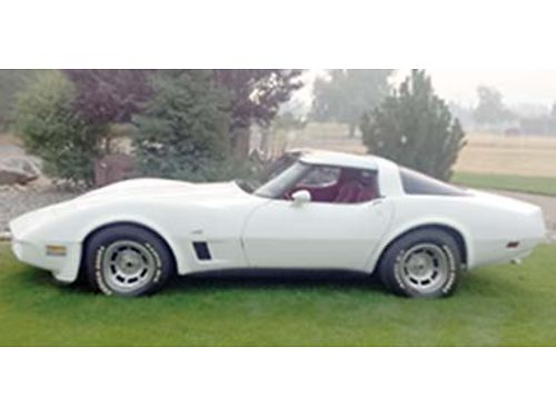 1980 CHEVROLET CORVETTE 350 V8 L82 red leather interior AT PS PD cruise AC PDL Mirror t-
