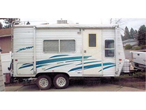 2001 SPLASH Traveler 18 tandem axle like new rack ladder solar panels new awning outside sho