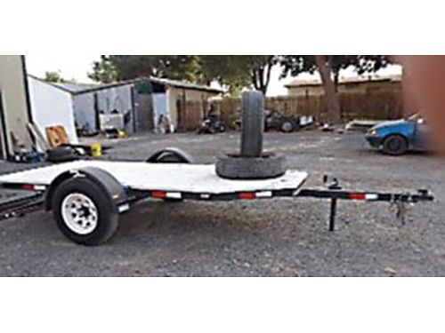 NEW homemade flatbed trailer 3500 lb Dexter axle 116x5 bed 2 ball Made with 3 channel iron