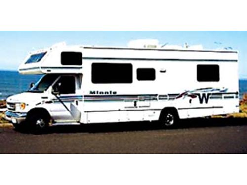 2000 MINNIE WINNIE 29 57k miles 2 airs generator wa rear bed new tires full awning clean r