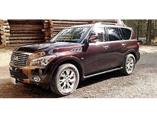 2014 INFINITI QX 80 4x4 in excellent condition 61k miles burgandy with black