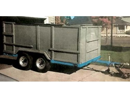 HOMEMADE heavy duty trailer 12x6 bed that is diamond plated base  fenders l