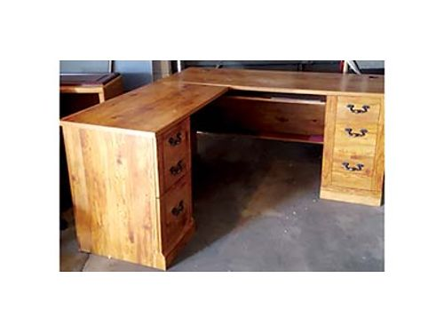 3 DESKS 75 each 1 credenza 50 and two bookcases one for 250 and one for 150 Or Best Offers Ca