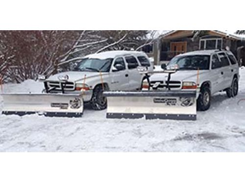 2-1998 DODGE Durango Stainless Steel Bladesone with a medium duty blade one with heavy duty Both