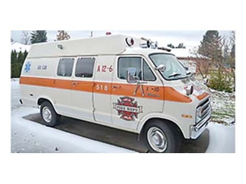 1975 DODGE TRADESMAN 300 Ambulance 25000 mi  New tires batteries Gone through mechanically EV