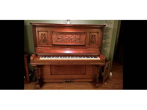 ANTIQUE PIANO Baldwin Cabinet Grand approximately 130 years old Golden Oak excellent condition