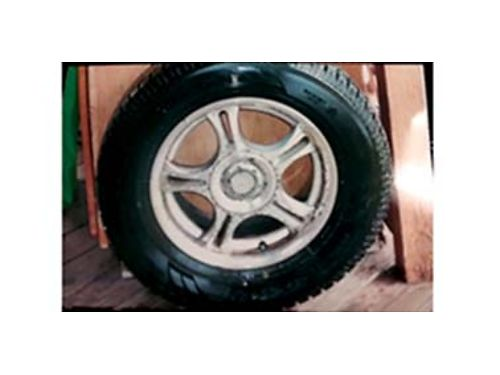 21570R15 Siped Toyo all weather w 5 hole GM Wheels low miles 230 Cash 509-939-2427