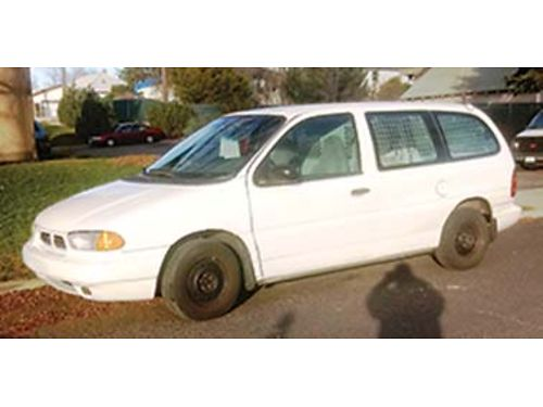 1998 FORD CARGO Van V6  Automatic trany w only 58k miles 1 owner reg maint