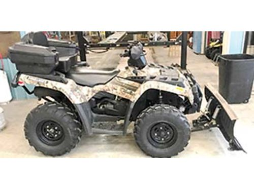 2005 OUTLANDER XT 400 4x4 winch cargo box snow plow heavy bumpers runs excellent only 550 mil