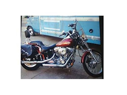 2000 HARLEY Davidson FXST Cruiser 25000 miles stage 3 95 CI engine 2nd owner all paper work fr