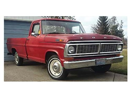 1970 FORD F-100 Barn find two owners 93000 orig miles 302 3 speed on colum