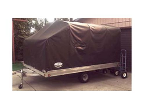 2012 ALUMA snowmobile trailer with snocap 86x12 will hold 175 tracked sleds rubber floor with