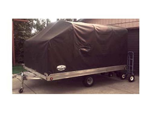 2012 ALUMA snowmobile trailer with snocap 86x12 will hold 175 tracked sleds