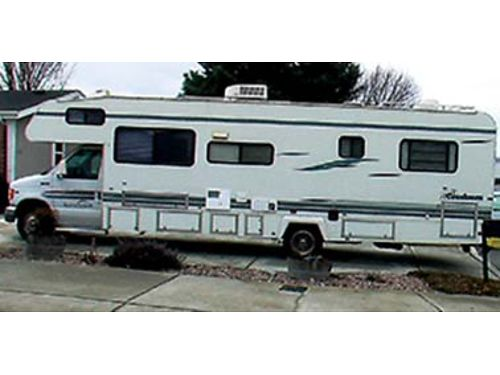 1998 COACHMAN Leprechaun 32 V10 Ford chasis 6 new tires new awning  battery rear queen adj