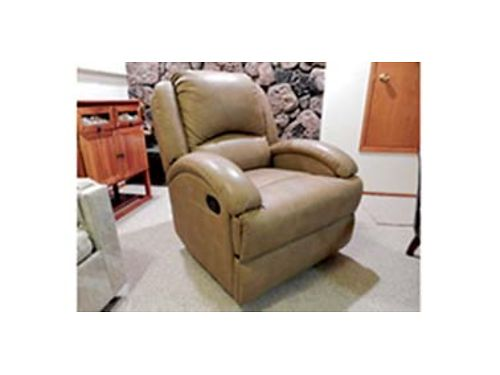 NEW never used Lauren Ashley RV 2 arm swivel rocker recliner Beckham tan Paid 799 asking 550 C