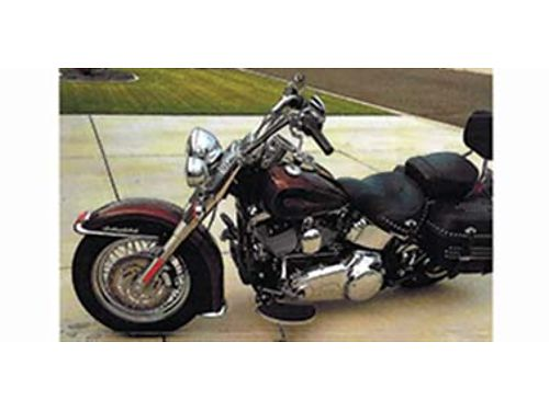 2009 HERITAGE FLSTC Softail 96 ci 6 speed 2 tone Root Beer Vance and Hines s
