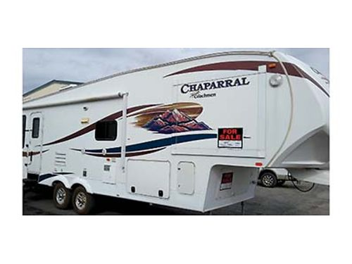 2012 CHAPARRAL 28 Ft 5th wheel RV Satellite dish 2 slides and New tires Ranch