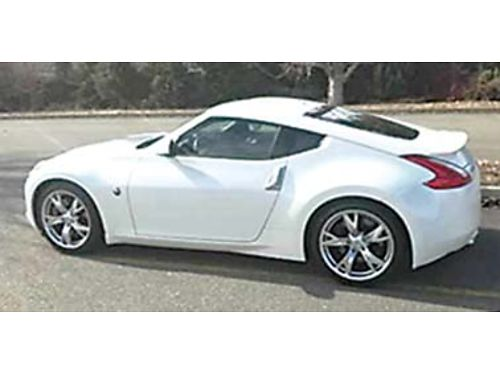 2012 NISSAN 370Z Sport Touring Coupe one owner black interior exterior white pearl new tires lo
