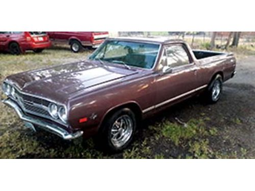 1965 CHEVROLET El Camino nice has a built 327 with 4spd with Hurst shifter ru