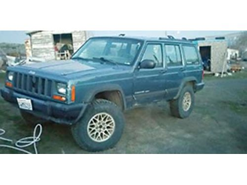 1999 JEEP Cherokee Sport 4x4 4 door 40 engine automatic lifted 2 12 new 31x1050-15 tires