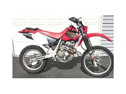 2001 HONDA XR400 great shape good tires and chain plastic gas tank bark busters power core exha